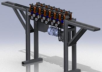 3D-модель прокатного станка.