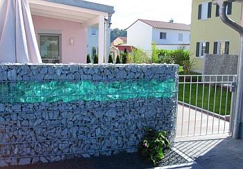 Забор из габионов.