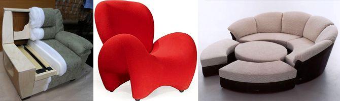 Оригинальная мягкая мебель.