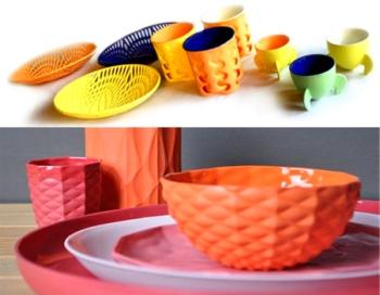 Оригинальная посуда из пластика.
