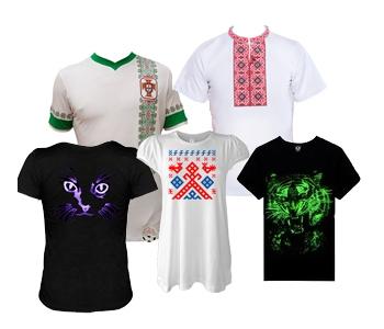 Вышивание на футболках под заказ.