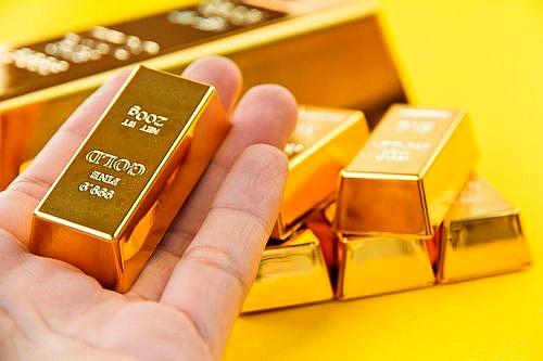 Маленькие слитки банковского золота.