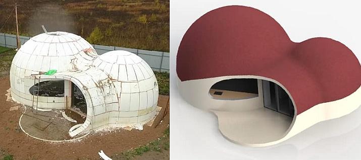 Моделирование купольного дома.