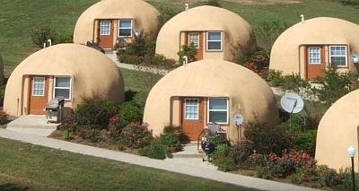 Дачный городок из купольных домов.