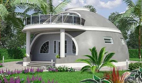 Коттедж в форме купола.