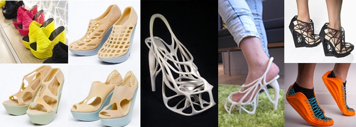 Обувь запечатана на 3d-принтере.