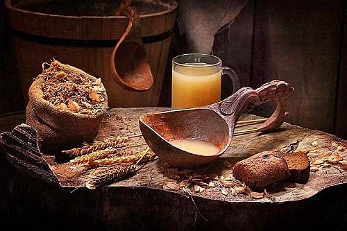 Хлебный квас с антиоксидантами.