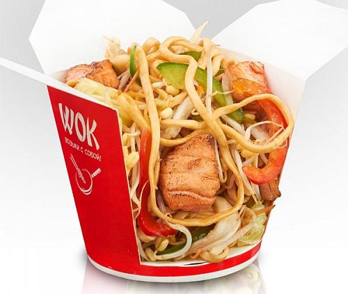 Состав Wok-лапшы в картонном стаканчике.