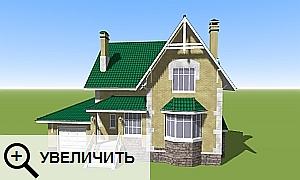 Кирпичный дом 3D.